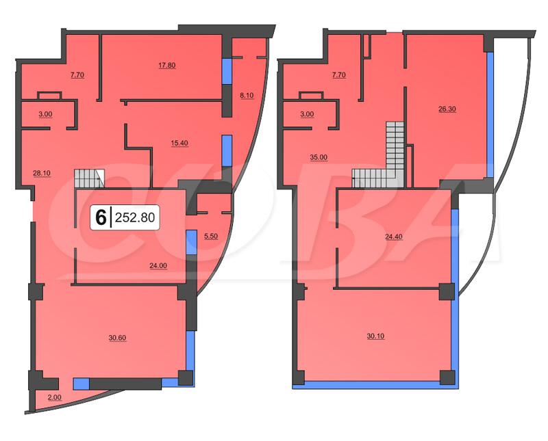 Многокомнатн. квартира  от застройщика,  в районе ЖД Вокзала, ул. Орловская, Жилой дом