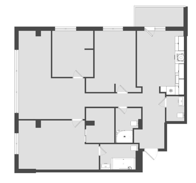3 комнатная квартира  от застройщика,  в районе ТРЦ Союз, ул. Университетская, Жилой микрорайон «За ручьём», Сургут