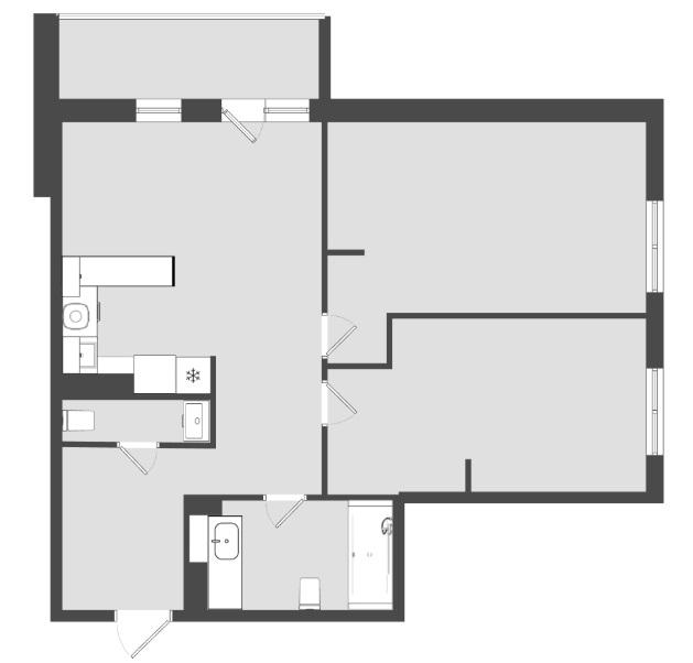 2 комнатная квартира  от застройщика,  в районе ТРЦ Союз, ул. Университетская, Жилой микрорайон «За ручьём», Сургут
