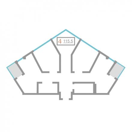 4 комнатная квартира  от застройщика,  в районе Дагомыс, ул. Новошкольная, Сочи, ЖК «Серебряный бор», код 215630 - фото 0