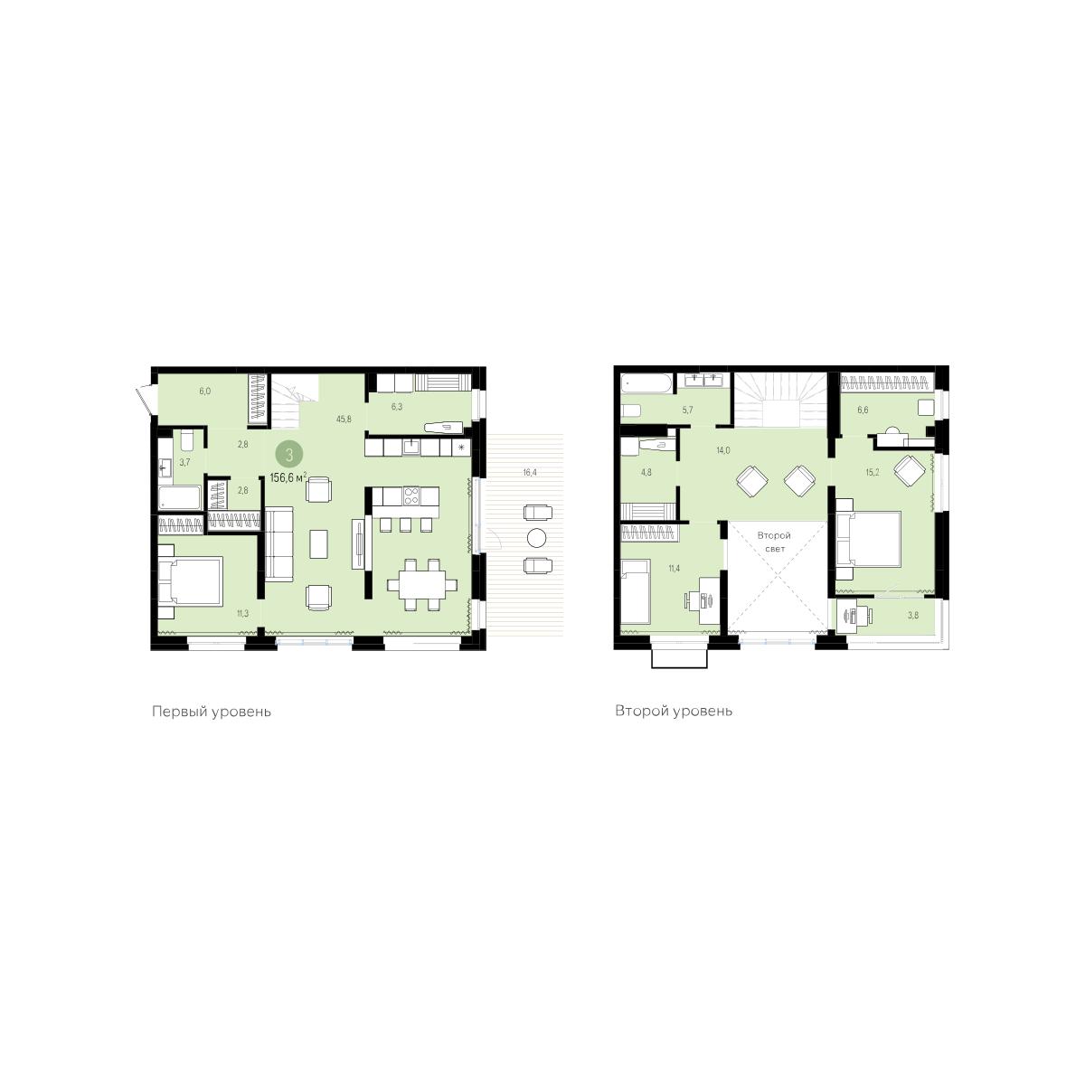 3 комнатная квартира  от застройщика,  в Европейском мкрн., ул. Газовиков, ЖК «Европейский квартал», Тюмень