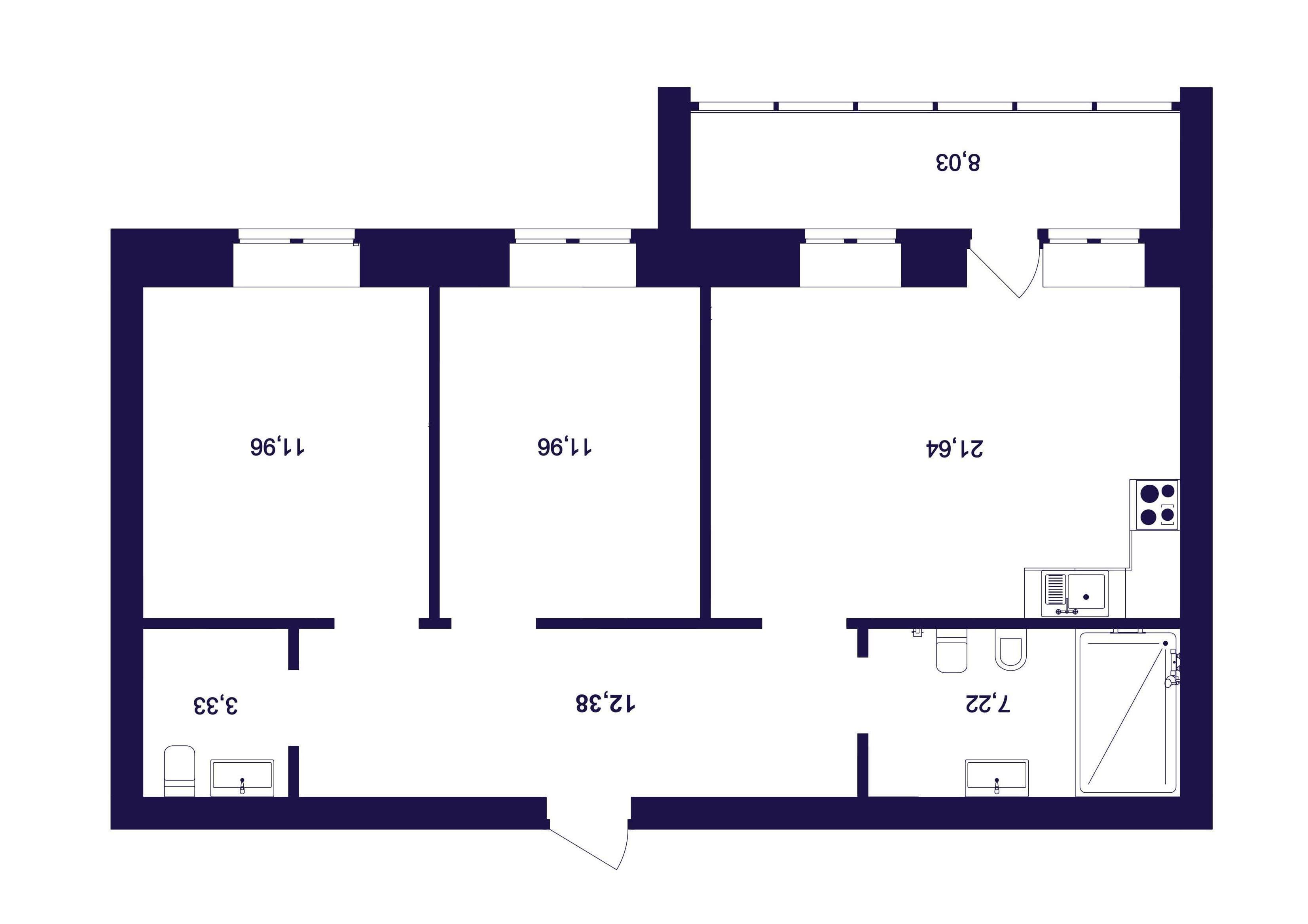 2 комнатная квартира  от застройщика,  в Заречном 5 мкрн., ул. Тимофея Кармацкого, ЖК «Ария», Тюмень