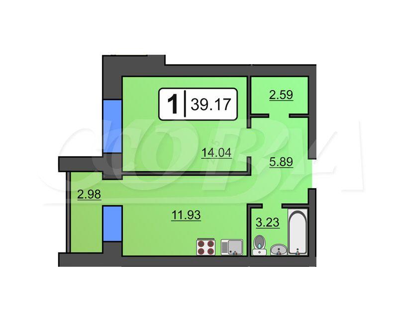 1 комнатная квартира  в новом доме,  в центре, Жилой дом по пер.Октябрьский, п. Винзили