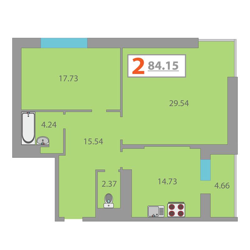 Продажа 1 2 3 4 5комнатных квартир в новостройках в