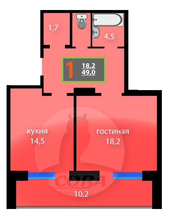 жк суходолье тюмень планировка 1 комнатной квартиры 39 7 кв м