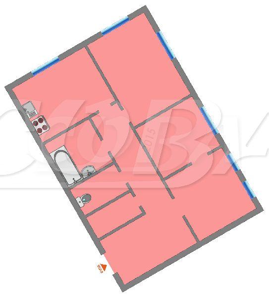 3 комнатная квартира  в районе ул.Елизарова, ул. Щорса, 9, г. Тюмень