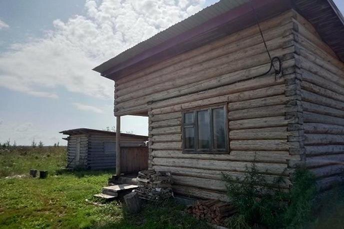 Недостроенный дом, с. Мальково, в районе Старый тобольский