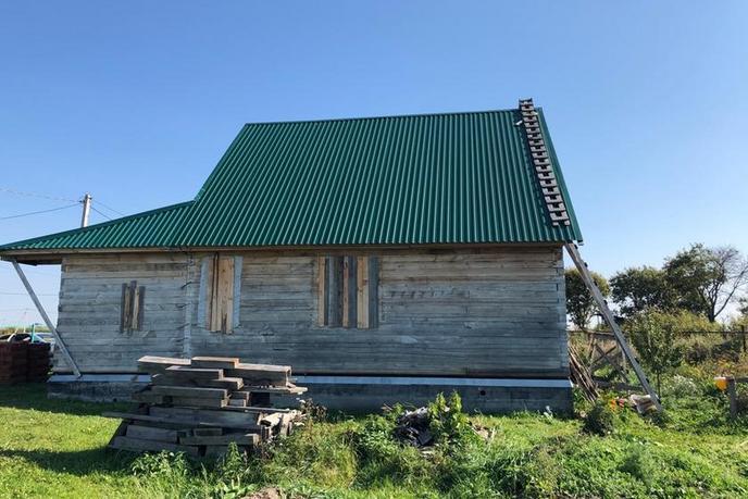Недостроенный дом, в районе КП Усадьба Есаулова, д. Есаулова, в районе Старый тобольский, коттеджный посёлок «Усадьба Есаулова»,