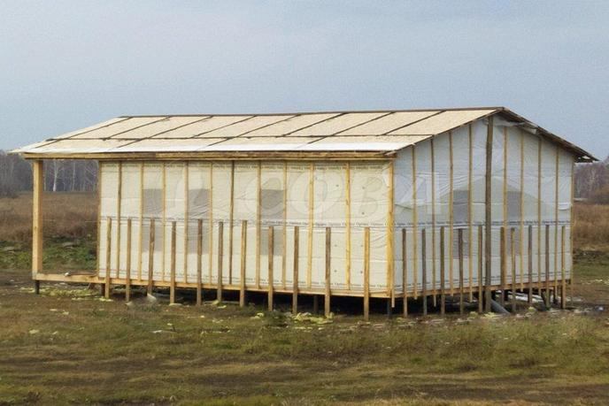 Строящийся дом, в районе Метелево, г. Тюмень