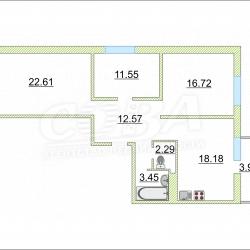 3 комнатная, цена: 4890 000 руб.