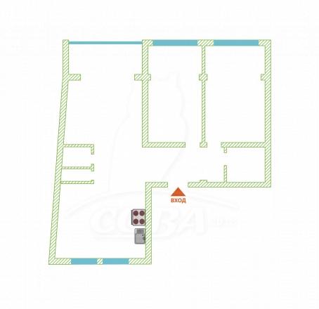 3 комнатная квартира  в районе Мамайский перевал, ул. Прозрачная, г. Сочи, код 257984 - планировка