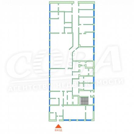 Нежилое помещение в бизнес-центре, продажа, в районе Дома печати, г. Тюмень, код 12971 - планировка