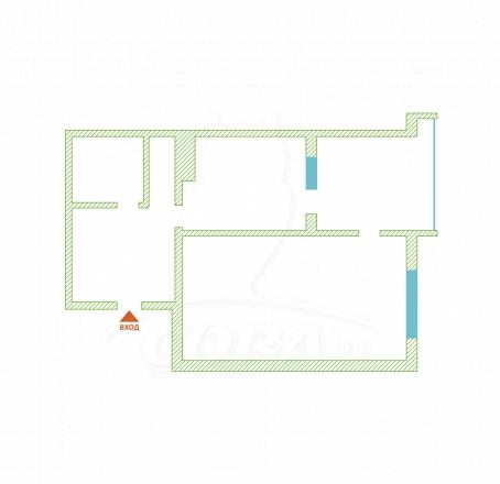 2 комнатная квартира  в районе Голубые Дали, ул. Голубые Дали, г. Сочи, код 262614 - планировка