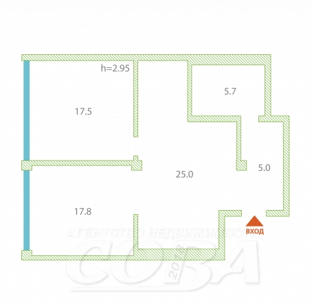3 комнатная квартира  в районе Новый Сочи, ул. Переулок Рахманинова, г. Сочи, код 242027 - планировка