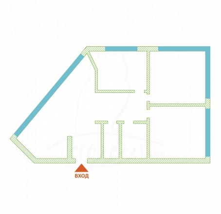 3 комнатная квартира  в районе Раздольное, ул. Тепличная, г. Сочи, код 272333 - планировка