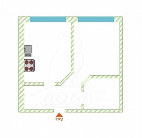 1 комнатная квартира  в районе Курортный Городок, ул. Ленина, г. Сочи, ЖК «Лукоморье», код 275116 - планировка