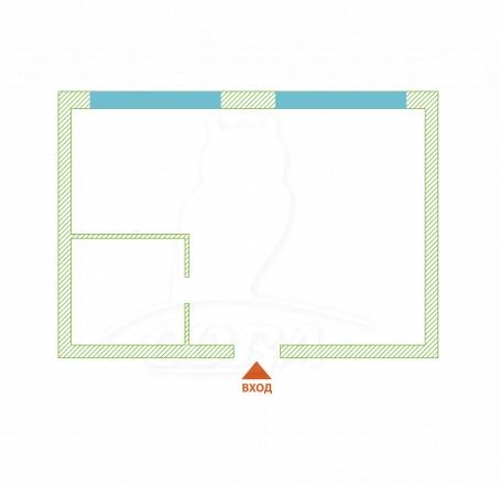 1 комнатная квартира  в районе Макаренко, ул. Пластунская, г. Сочи, ЖК «Раз Два Три», код 260113 - планировка