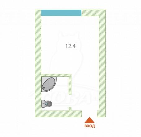 Комната в районе Тимирязева , ул. Тимирязева, г. Сочи, код 268952 - планировка