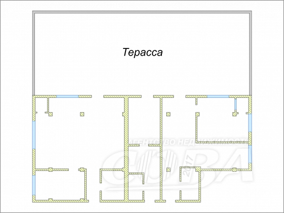 4 комнатная квартира  в районе Тимирязева , ул. Тимирязева, г. Сочи, код 207215 - планировка