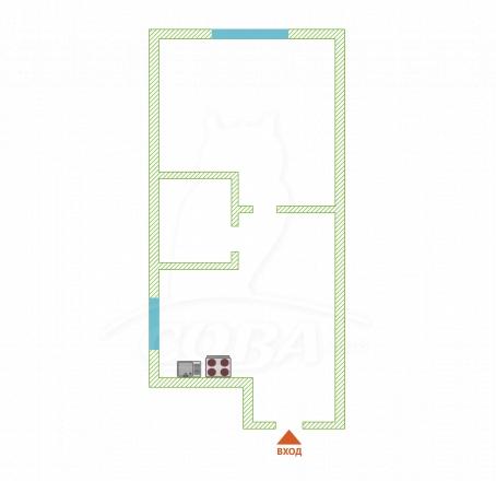 1 комнатная квартира  в районе Новый Сочи, ул. Виноградная, г. Сочи, код 270786 - планировка