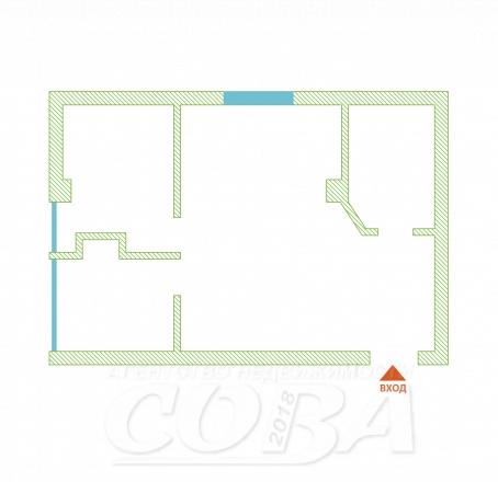 2 комнатная квартира  в районе Раздольное, ул. Тепличная, г. Сочи, код 243473 - планировка