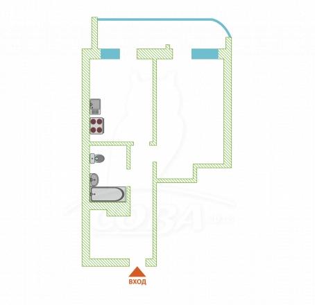 1 комнатная квартира  в районе Бытха, ул. Бытха, г. Сочи, ЖК