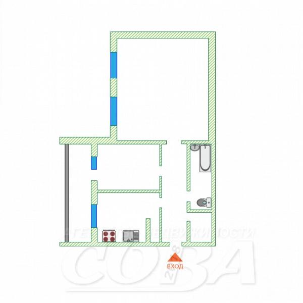 2 комнатная квартира  в районе МЖК, ул. Широтная, 156/1, г. Тюмень