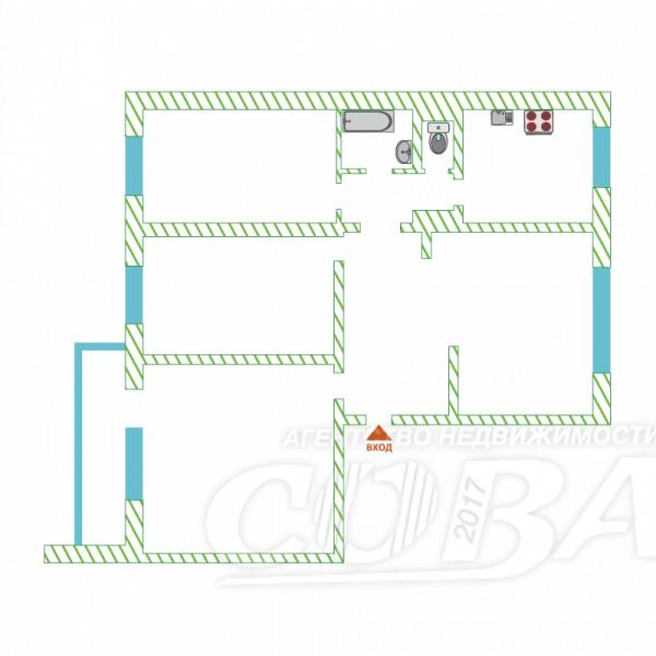 4 комнатная квартира  в районе Нагорный Тобольск, ул. микрорайон 7А, 16В, г. Тобольск