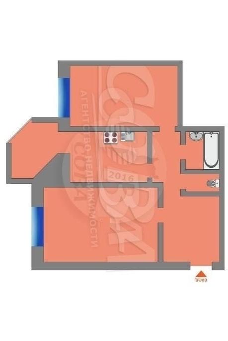 2 комнатная квартира  в районе Южный 2/ Чаплина, ул. Демьяна Бедного, 83, г. Тюмень