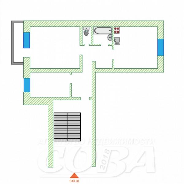 2 комнатная квартира  в районе мкр. Ласточка, ул. Сосновая, 2, п. Винзили