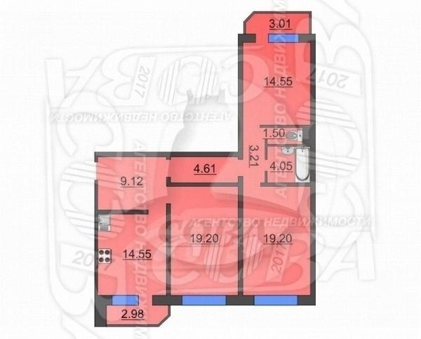 3 комнатная квартира  в Восточном 3 мкрн., ул. Широтная, 190/3, Жилой комплекс «Малахово», г. Тюмень