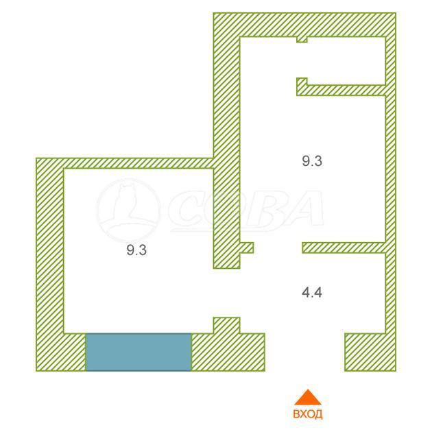 Нежилое помещение в жилом доме, аренда, в районе Югра, г. Тюмень