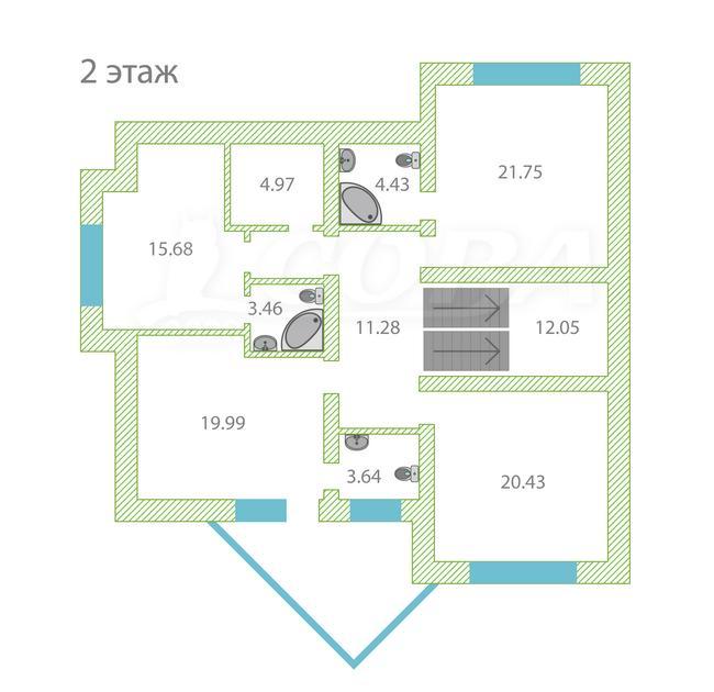 Загородный дом, в районе КП Зеленые холмы, с. Кулаково, по Ирбитскому тракту, Коттеджный поселок «Зеленые холмы»