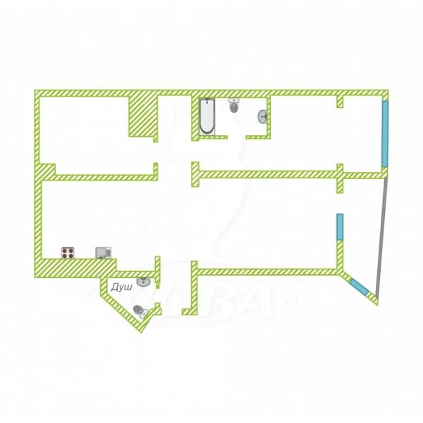 3 комнатная квартира  в центре, ул. Нагорная, 11, ЖК «Морской Дворец», г. Сочи