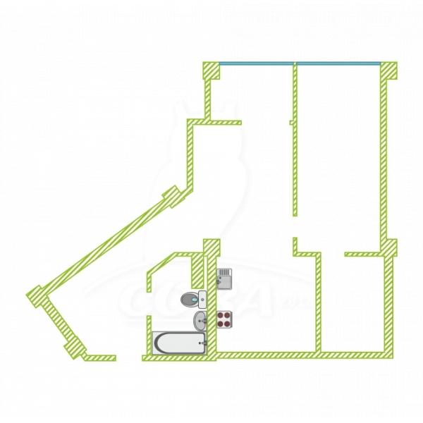 2 комнатная квартира  в районе Яна Фабрициуса, ул. Яна Фабрициуса, 2/28А, г. Сочи