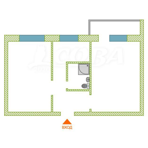 2 комнатная квартира  в историческом центре, ул. Орджоникидзе, 67, г. Тюмень