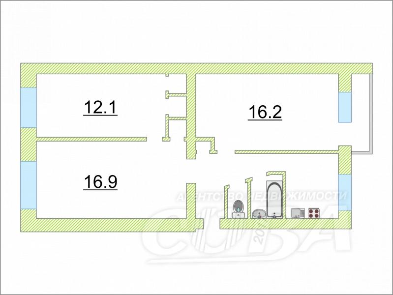 3 комнатная квартира  в районе Дом Обороны, ул. Барнаульская, 40, г. Тюмень