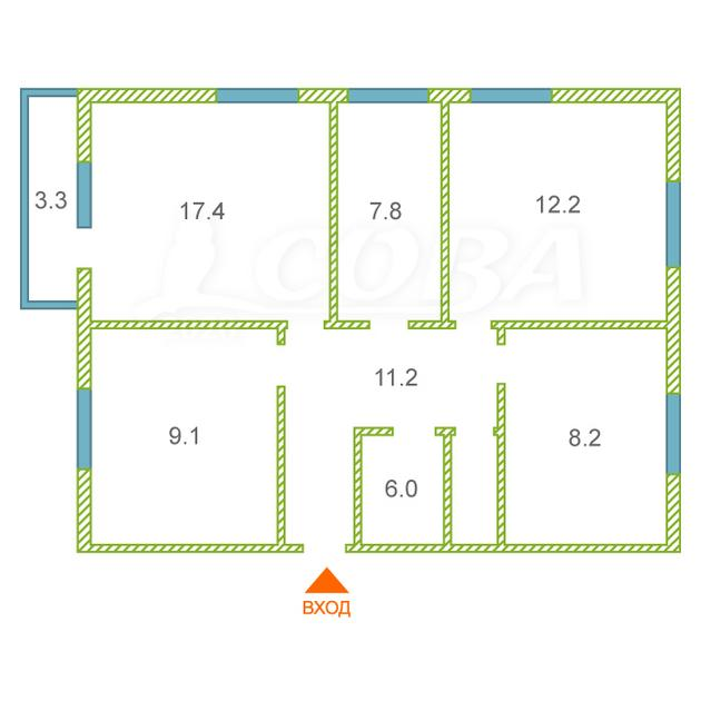 4 комнатная квартира , ул. 8 Марта, 32, п. Луговской