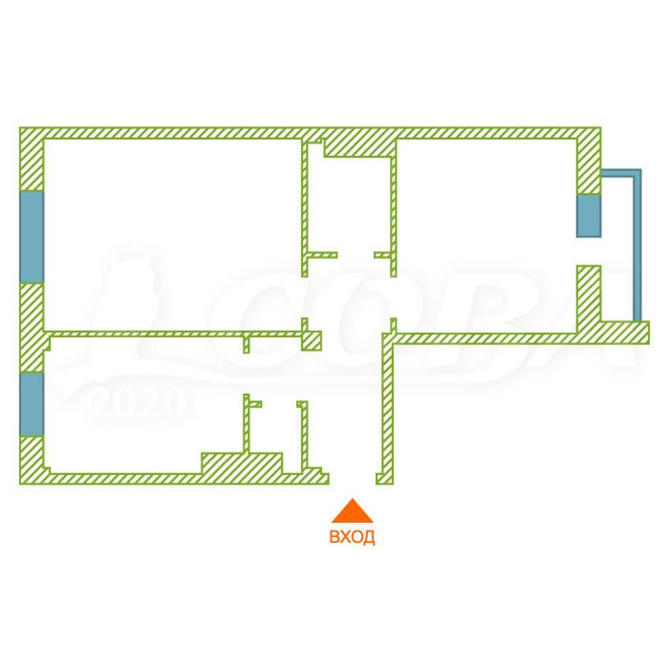 2 комнатная квартира  в районе Мыс, ул. Вятский проезд, 28, г. Тюмень