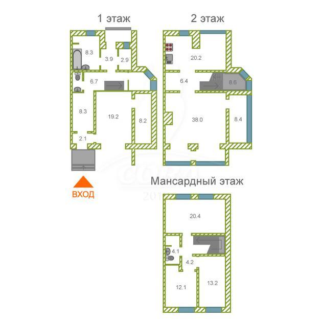 4 комнатная квартира  в районе Тарманы, ул. Малышева, 16, г. Тюмень