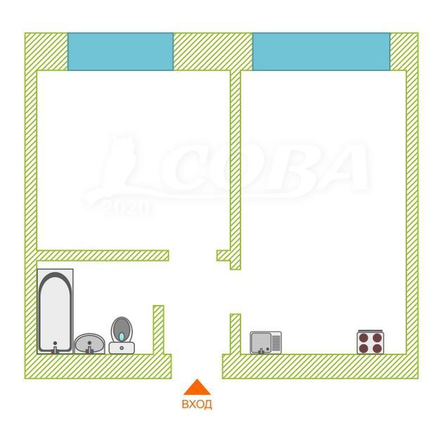 1 комнатная квартира  в 1 микрорайоне, ул. Олимпийская, 30, г. Тюмень