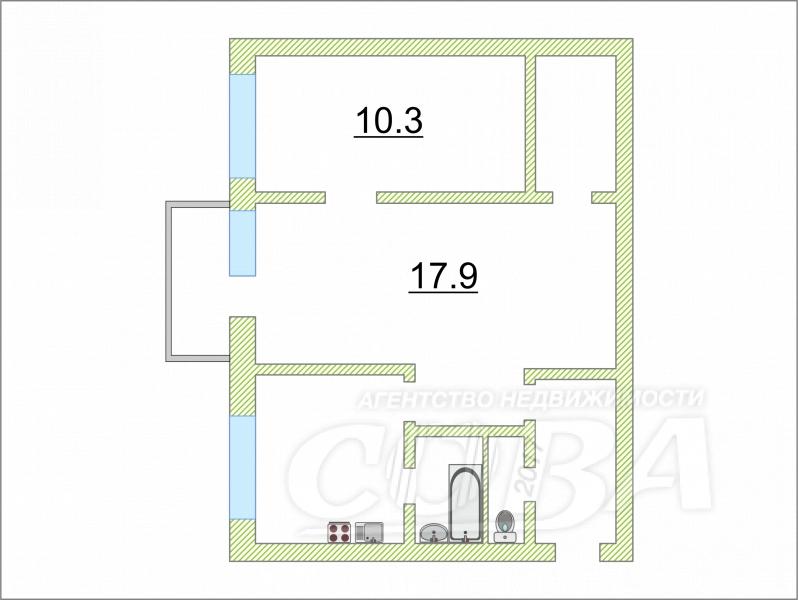 2 комнатная квартира  в центре Тюмени, ул. Дзержинского, 31, г. Тюмень