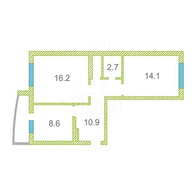 2 комнатная квартира  в пос. Антипино, ул. Беловежская, 19, Жилой комплекс «Новоантипинский», г. Тюмень