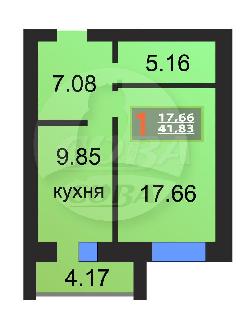 1 комнатная квартира  в районе МЖК, ул. Широтная, 158/1, Жилой комплекс «Восточная широта», г. Тюмень