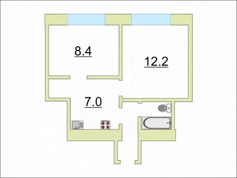 2 комнатная квартира  в 2 микрорайоне, ул. Олимпийская, 25, г. Тюмень