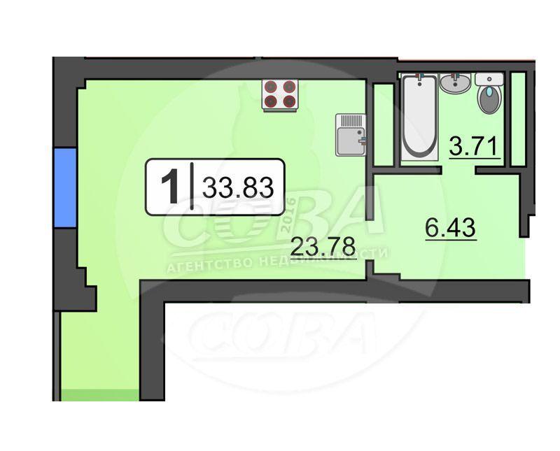 Студия в районе КПД (Геологоразведчиков), ул. проезд Геологоразведчиков, 44, Жилой комплекс «Соседи», г. Тюмень
