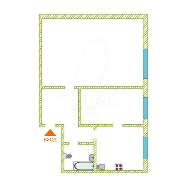 2 комнатная квартира  в районе ММС, ул. 70 лет Октября, 11, г. Тюмень