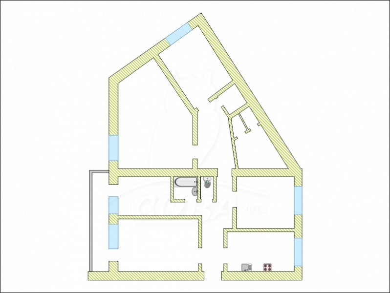 Многокомнатн. квартира  в пос. Антипино, ул. Ивана Крылова, 17, г. Тюмень