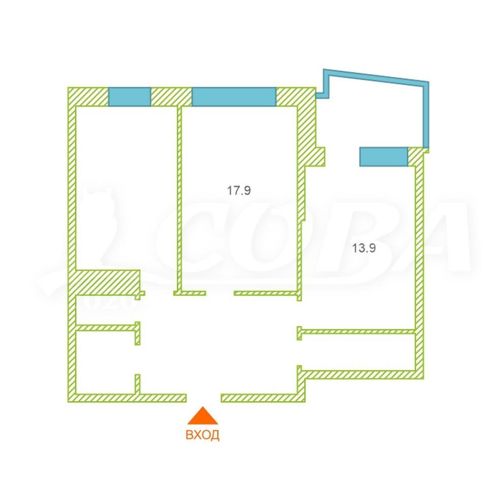 2 комнатная квартира  в районе Александрия, ул. Крылова, 36, Жилой дом