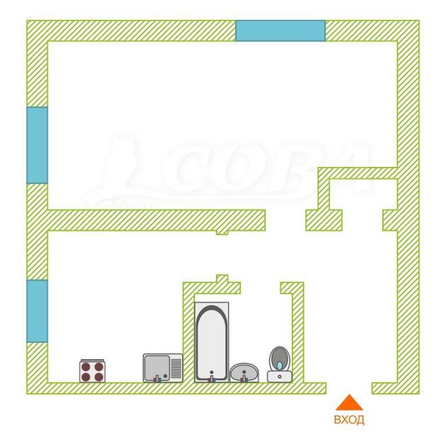 1 комнатная квартира  на КПД у ДК Строитель, ул. Республики, 189, г. Тюмень